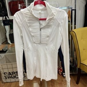 Lululemon white top with zipper